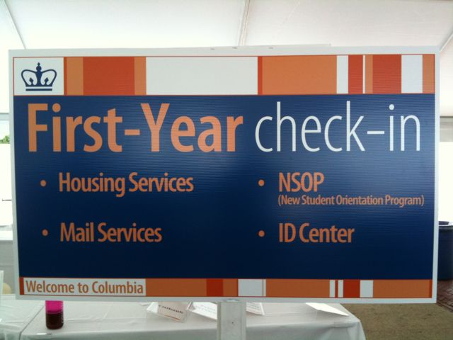 NSOP First-Year check-in