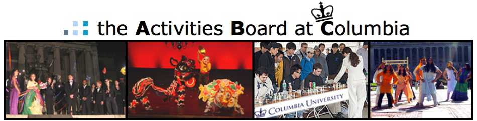 The Activities Board at Columbia